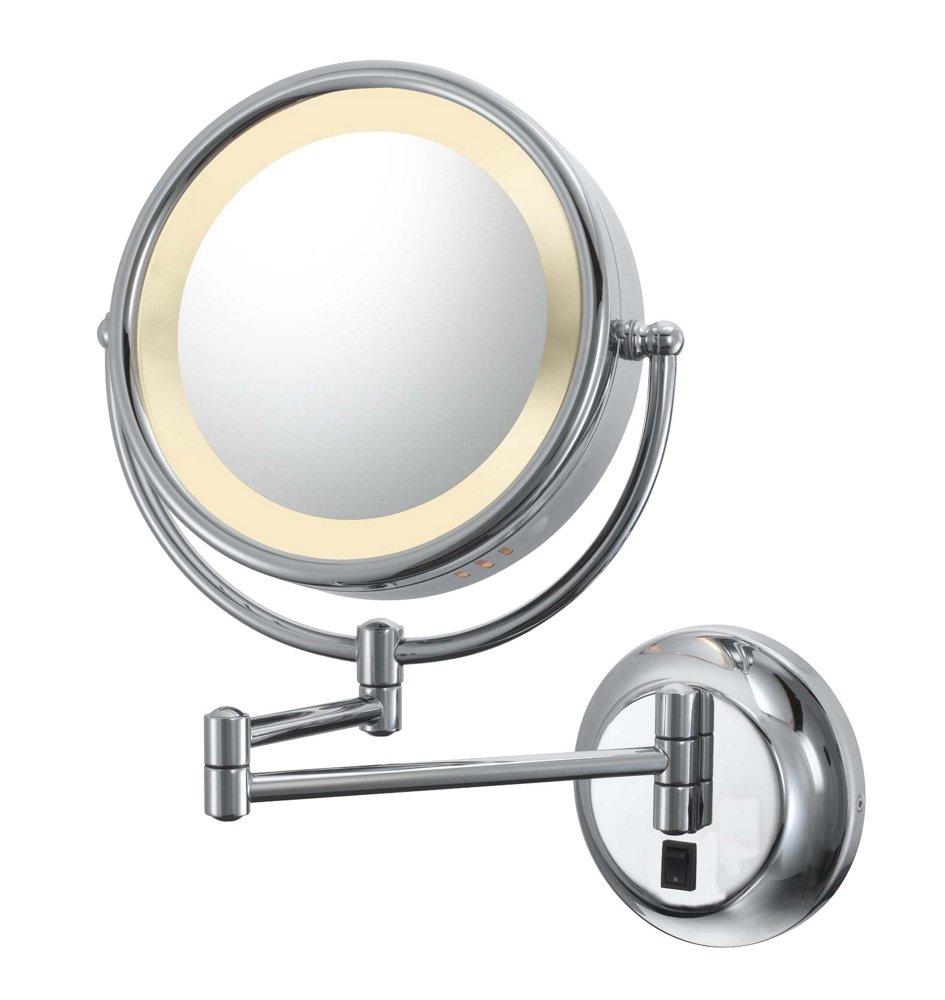 amazoncom kimball u0026 young lighted reversible 5x1x hardwired makeup mirror home u0026 kitchen