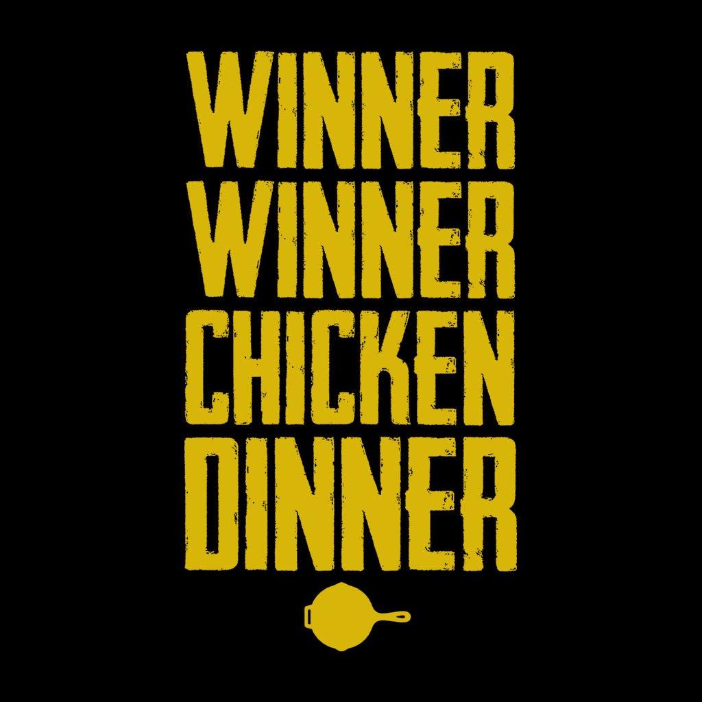winner chicken dinner playerunknown battlegrounds men s t shirt