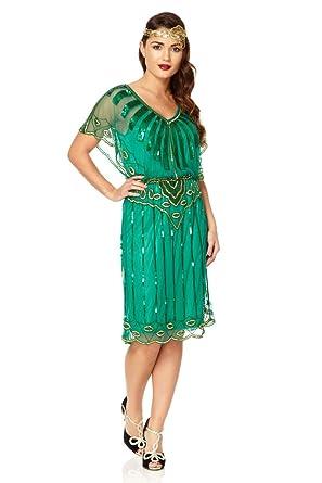 Vintage Style Emerald Green Dress