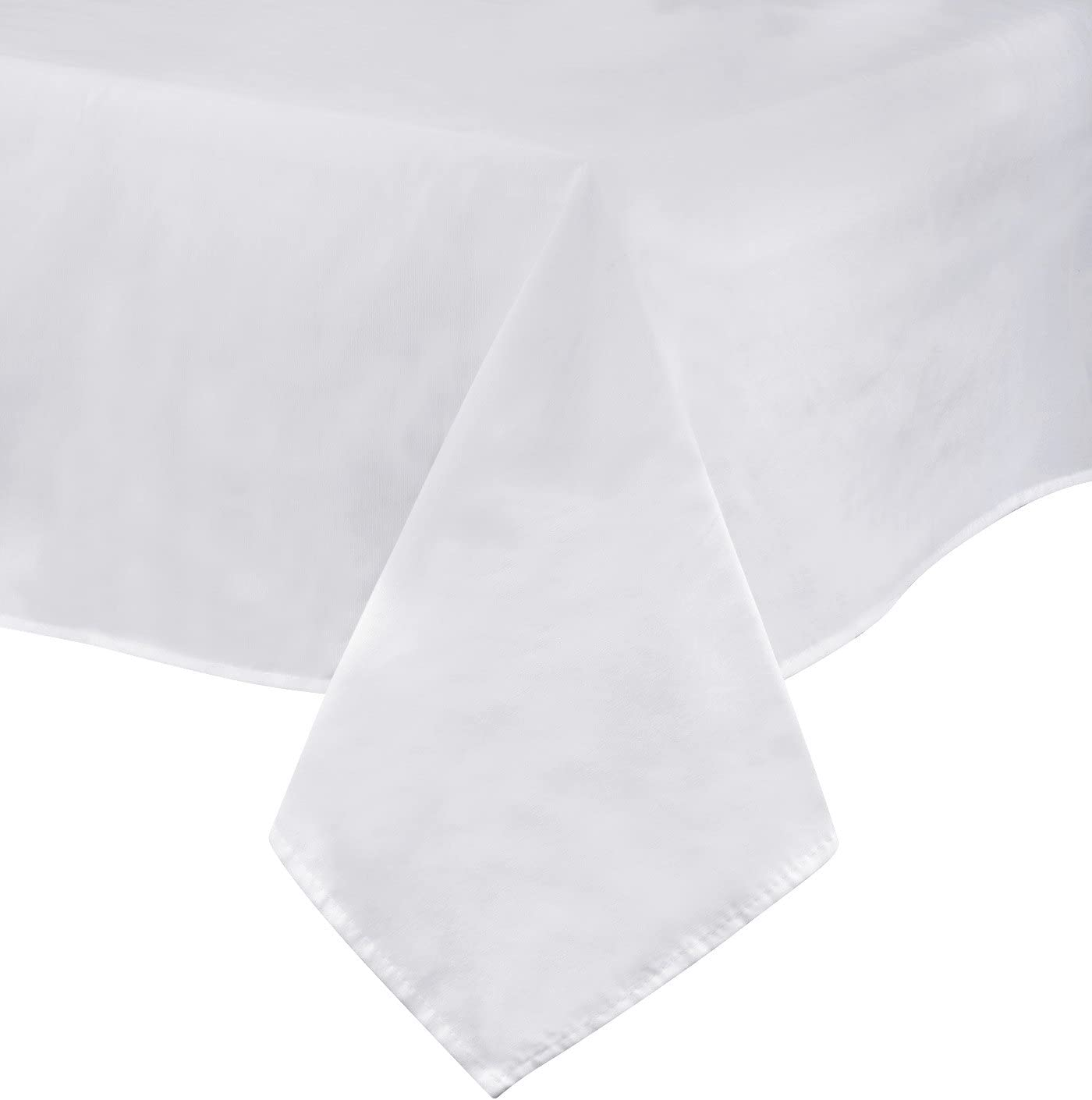 Solid Wearproof Water-resistant Tablecloth Cotton Linen Table Cover Print Decor