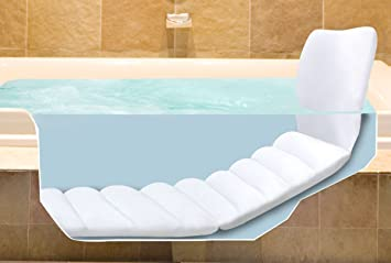 Bathtub Lounger Full Body Bath Tub Cushion Comfort Padding Cradle Back Body  NEW