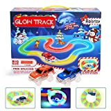 Twister Glow Track Racing Car Set, Toy for Kids Age 3 4 5 6 7 Magic Glow in the Dark Cars Track Innovative Technology Flexible Routing Speedway Assembly Track Race Series + 2 Light Up Race Car