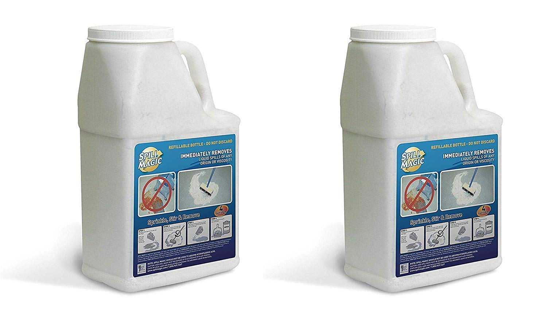 Spill Magic SM202DB Liquid Spill Pick-Up Absorbent Powder, 3 lb. Filled Bottle (Pack of 2)