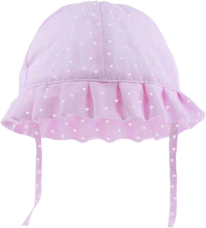 con correa para la barbilla de 0 a 24 meses para ni/ñas y ni/ños algod/ón con bordado de pr/íncipe con volantes Sombrero para beb/é con lazo brillante para verano