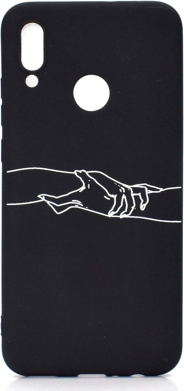 Diente de le/ón Ni/ña DiaryTown 2 Negro Funda para Huawei P Smart 2019 Honor 10 Lite Silicona Blando Carcasa Funda Resistente Dibujos Gracioso Cover Ultrafina Antigolpes Case Protecci/ón