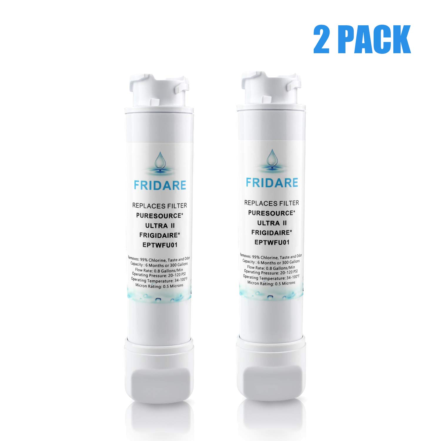EPTWFU01 Pure Source Ultra II FPBC2277RF Refrigerator Water Filter Replacement,2PACK