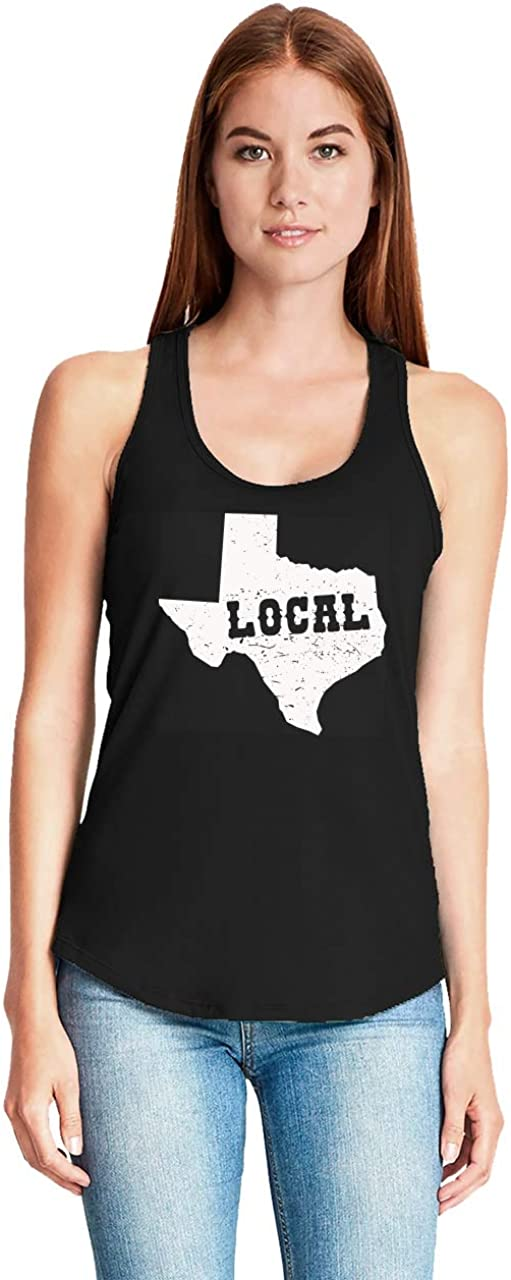 Comical Shirt Ladies Local Texan Racerback