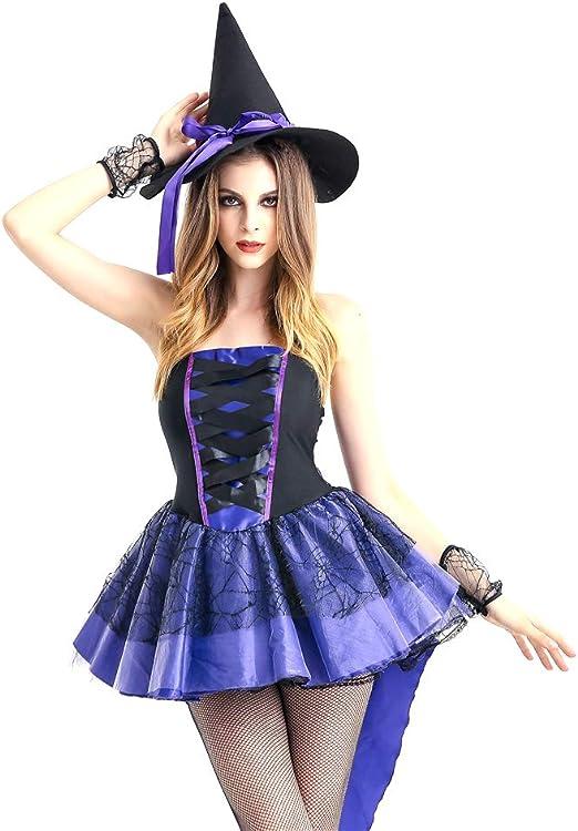 FHTD Disfraz De Halloween Adulto Cosplay Bruja Vampiro Princesa ...