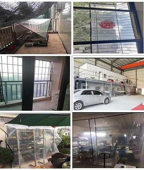 Z & YY Lonas Transparentes Impermeables Invernaderos Invernaderos de Plantas Toldos de perforación de Bordes, Plástico al Aire Libre Balcón Aislamiento ...