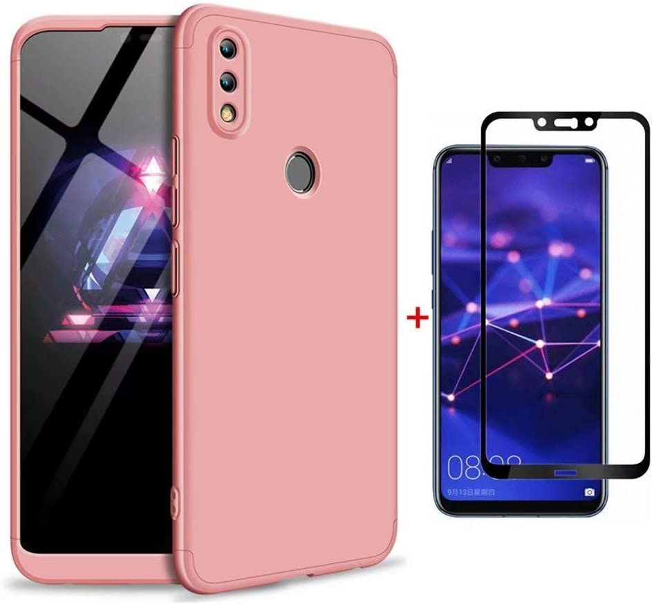 FHXD Compatible con Funda Huawei Honor 8X Anti-Shock 360° Carcasa Case Cover Protectora [Protector de Pantalla] Ultra Thin Anti-Scratch 3 in 1 Caso Cáscara Protectora-Oro Rosa: Amazon.es: Electrónica