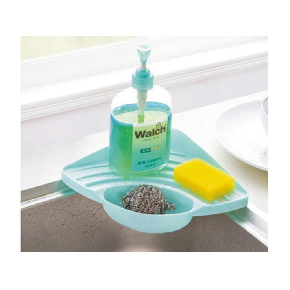 Porta spugna Godea lavello ad angolo Caddy a ventosa, rastrelliera per spugne sapone scrubber spazzola di pulizia CN