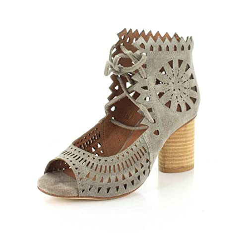 299232d5fd0 Jeffrey Campbell Womens Cordary Taupe Suede Sandal - 6.5