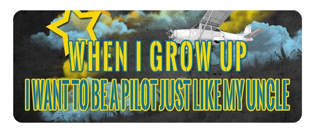 見事な創造力 makoroni – When I Grow Up My 8 I B079Z2834H Want to Be aパイロットJust Like My Uncle航空パイロット車ラップトップ壁ステッカー 3 x 8 ホワイト MpFFFDECALAVIATO166-3by8 3 x 8 B079Z2834H, コトナミチョウ:ede08bc8 --- a0267596.xsph.ru