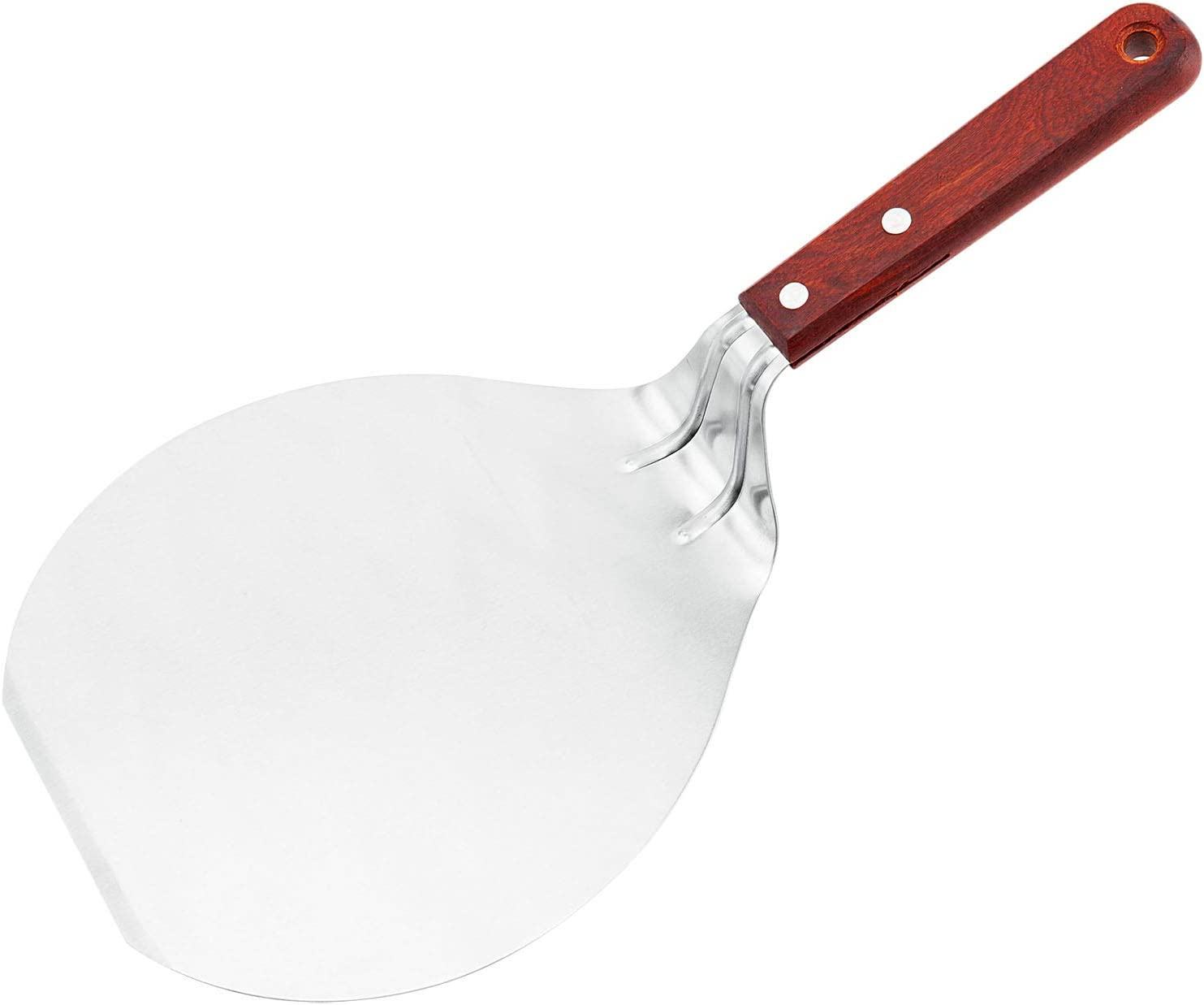 B01N9ETTTW Cake Safe Lifter Transfer Shovel, 8-inch Stainless Steel Cookie Spatula Pizza Paddle Peel Pancake Tray Fondant Moving Paste Tool Bread Pan, Bottom Mover Scraper for Kitchen Baking 612Bsr2Z2bTL