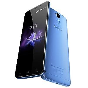 Blackview P2 Smartphone, 4G Android Telefono Cellulari, 5.5 Pollici FHD Display Cellulare Dual SIM, 6000mAh batteria, Memoria Interna da 64 GB, Fotocamera 13MP, Fingerprint, Blu