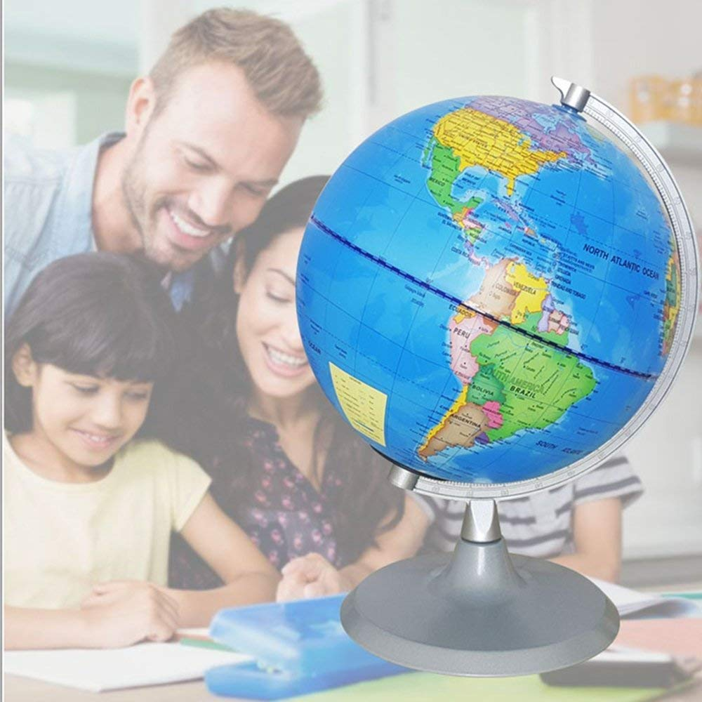 Illuminated World Globe Constellation Globe And Childrens Educational Interactive Astronomy And Geographic Map Globe with Detailed World Map