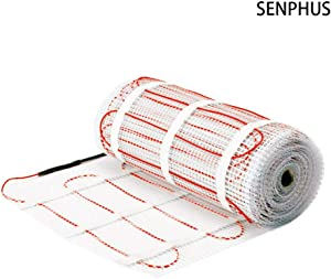 Senphus 120V Underfloor Radiant Heating Mat Dual Core Electric Cables System Warm in Tiles 90sqft
