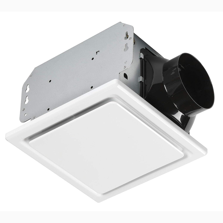 Homewerks Worldwide 7140-50 Bathroom Fan Ceiling Mount Exhaust Ventilation 1.0 Sones 50 CFM, White