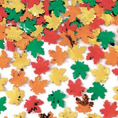 (Maple Leaves Metallic Foil Confetti)