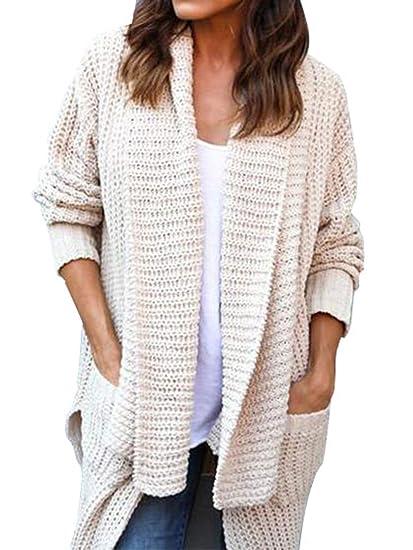 Lovinparis Womens Cardigan Sweaters Loose Open Front Long Sleeve