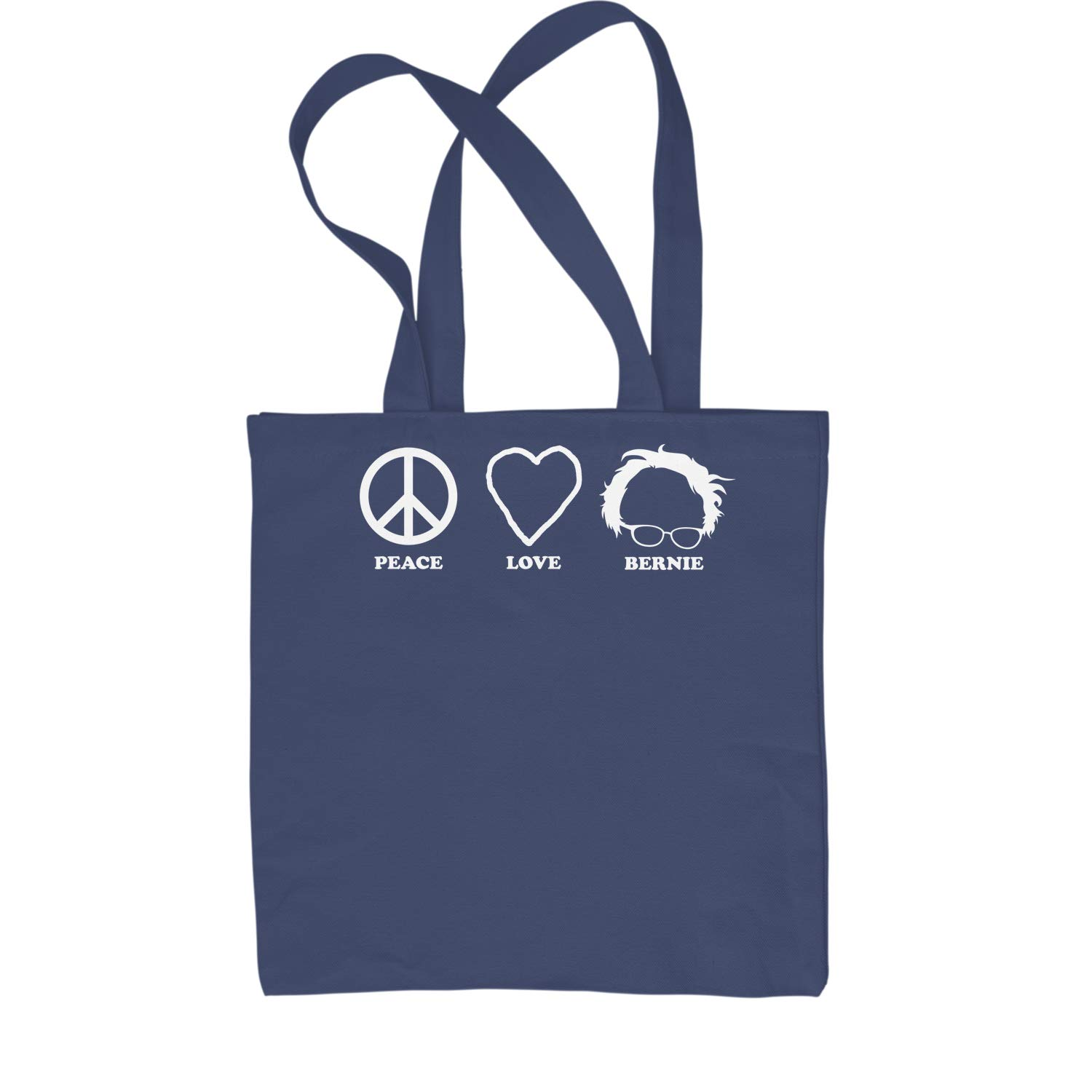 Expression Tees Peace Love Bernie Sanders For President Shopping Tote Bag