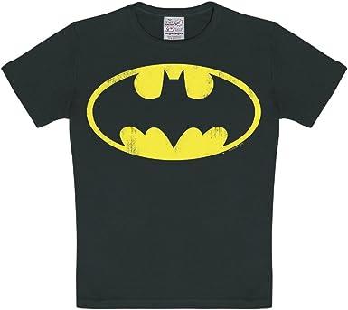 Logoshirt Camiseta para niño Batman Logotipo, DC Comics - Batman Logo - Camiseta con Cuello Redondo Negro - Diseño Original con Licencia: Amazon.es: Ropa y accesorios