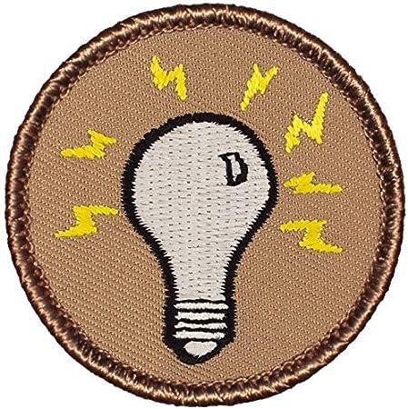 Light bulbs Iron on patch