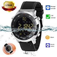 Bluetooth Smart Watch Waterproof Smartwatch Sports Smart Watches for Men Women Boys Kids Android iOS iPhone Samsung Huawei LG BLU ASUS Motorola ZTE with Pedometer Fitness Tracker SMS Call Reminder