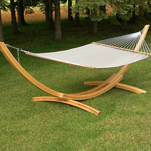 Apontus Cotton Double Hammock with Spreader Bars, Canvas Material