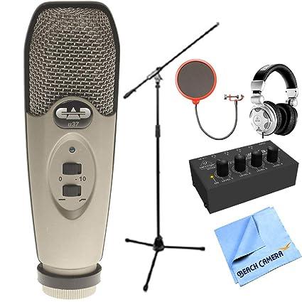 1debedbb56b CAD Audio U37 USB Large Diaphragm Cardioid Condenser Microphone w/Tripod,  10' Cable