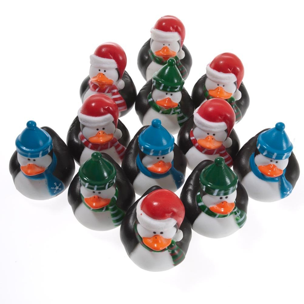 Fun Express Rubber Ducky Duckie Penguin Duck Party Favors Set (12 Piece) Everready First Aid FNEIN-4/3963