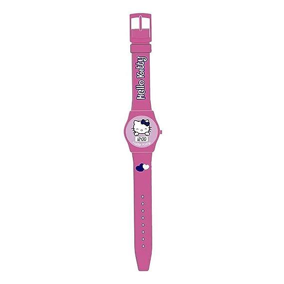 Hello Kitty HK25426 Reloj digital para niña, de cuarzo con correa de plástico rosa e ilustraciones de Hello Kitty: Amazon.es: Relojes