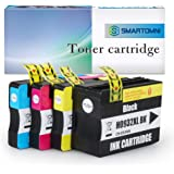 S SMARTOMNI Compatible 932 XL 933 XL Ink Cartridge Replacement for HP 932XL 933XL Combo Pack for HP Officejet 7110 6700 6100 6600 7510 7612 7610 Inkjet Printer (4 Pack - Black Cyan Magenta Yellow)