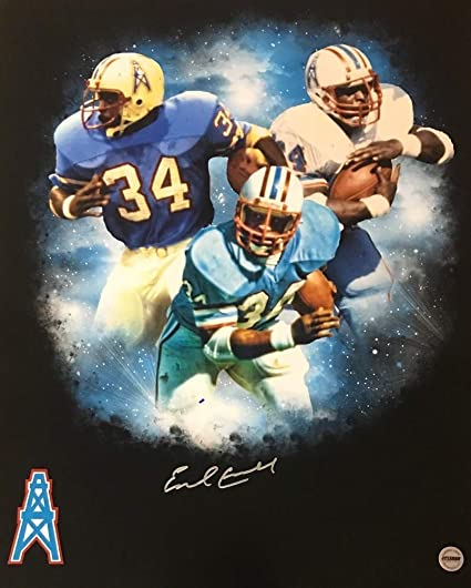 8597dc18 Earl Campbell Houston Oilers Autographed Signed 16x20 Photo Fsg Authen Edit  2