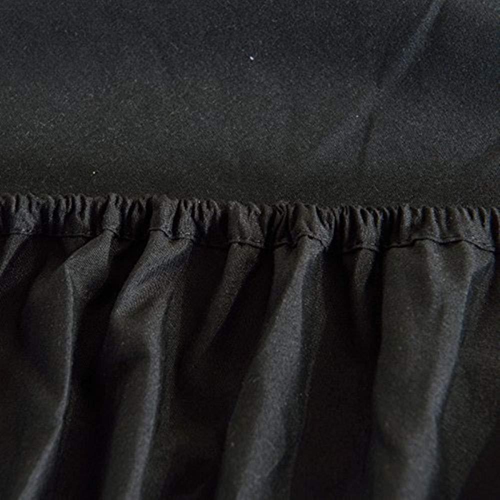 Traspirante /Tasca Profonda Spazzolato Vellutato in Microfibra Nero King Extra Morbido e Confortevole/ Fade Coprimaterasso/ /Wrinkle antimacchia e Resistente all abrasione