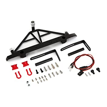 Puppen & Zubehör AUSTAR Metal Rear Bumper with Lights Spare Tire Carrier for Axial SCX10 RC CarlF
