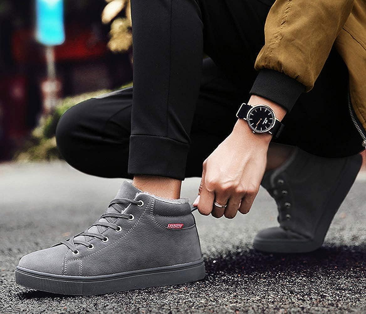 Hombres Zapatos de Invierno S/úper C/álido C/ómodo Al Aire Libre de Felpa Casual Lace Up Botines Planos Impermeables