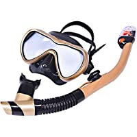 LBAFS Scuba Snorkel Set Full-Dry Scuba Diving Mask para Adultos Easy Breathe Anti-Niebla Anti-Leak Snorkeling Gear Gafas