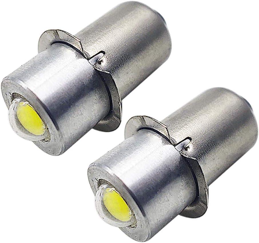 P13.5S LED 3030 3 SMD Flashlight Bulb Lantern Torch Lamp Work Light 12V AC White