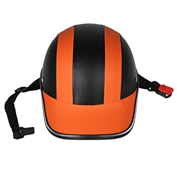Amazon.com: Motorcycle Helmet Half Face Baseball Cap Style with Sun Visor: Automotive
