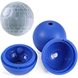 Star Wars Ice Mold 4 Pack Death Star Silicone Sphere Ice Ball Maker Mold Tray Chocolate Maker Vinmax Blue Silicone Ice Cube Tray for Baking and Cool Drinks