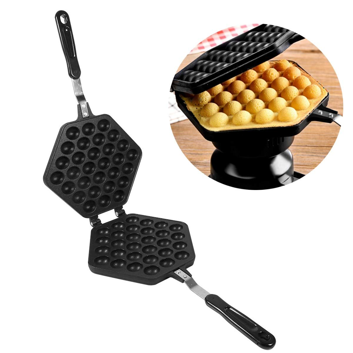 Eggs Puffs Pan Grill Baking Oven Mold Roll Aluminum Alloy Classic Burning Plate Barbecue DIY Cooking Eggs Tools Bakeware