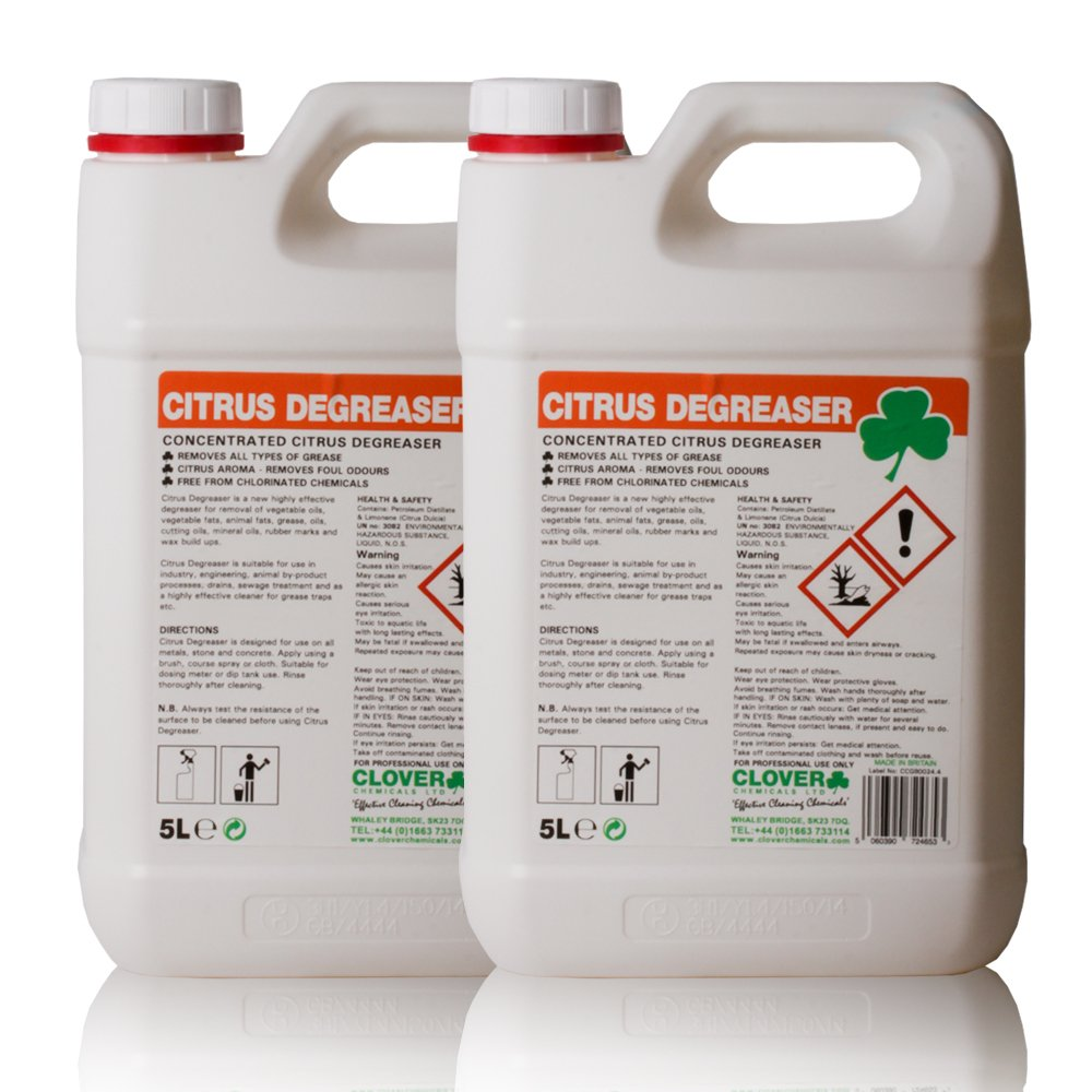 Citrus Degreaser Industrial Cleaner (10L) - Comes With TCH Anti-Bacterial Pen! Clover