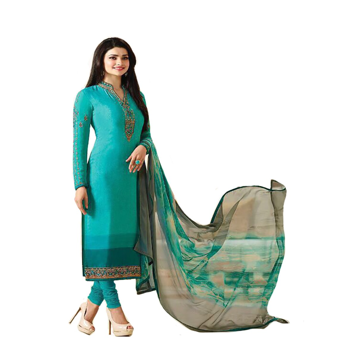 Straight Salwar Kameez Latest Formal Collection Women Dress Suit Party Wear 387