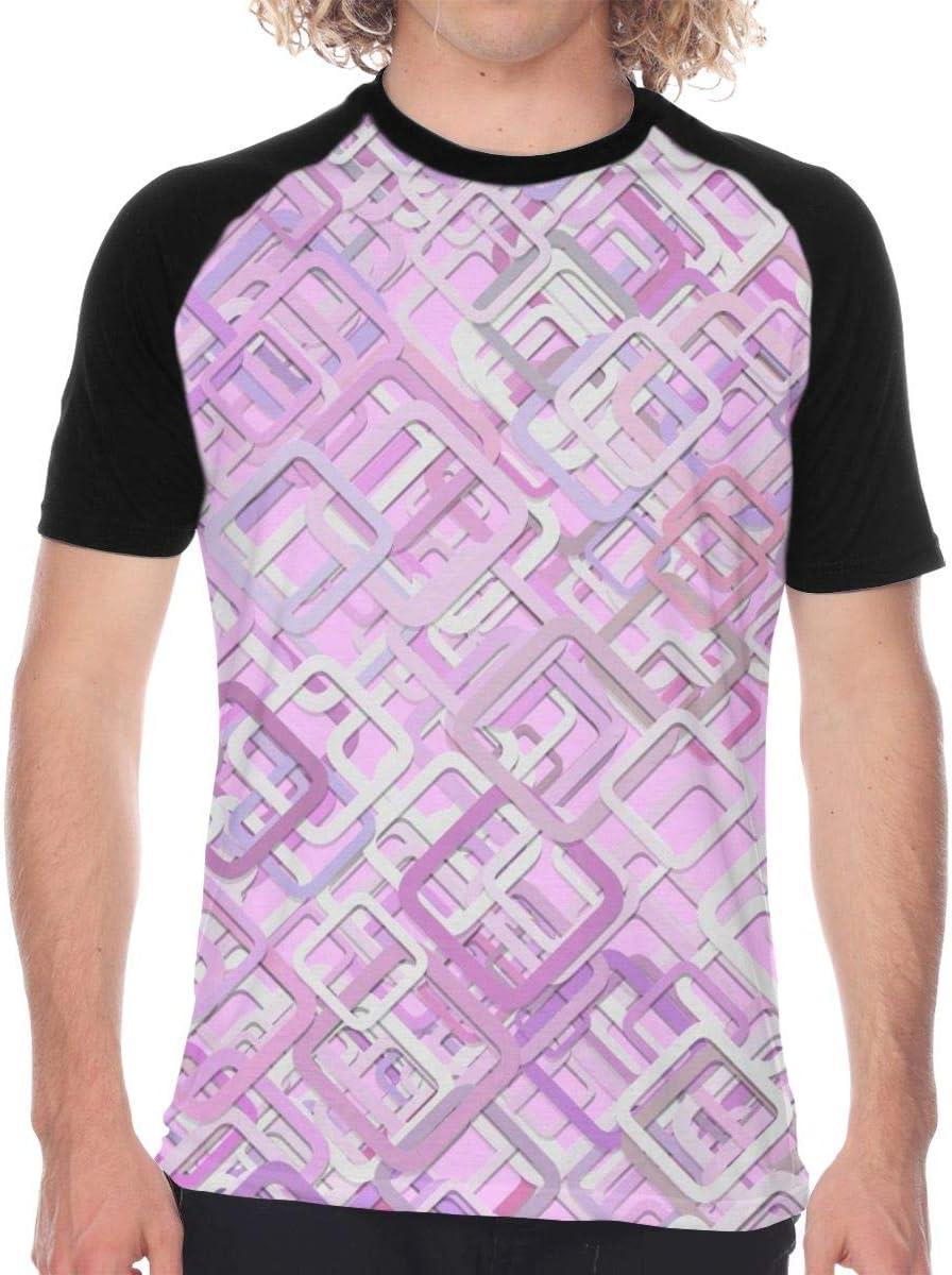 Vanesa Joyce Pink Mosaic Mens Short Sleeve T Shirt Tees Baseball ...