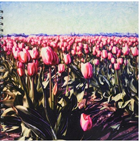 Polaroid Notepad - 3dRose db_95762_2 Washington, Polaroid SX70 Manipulation, Tulip Flowers-US48 JLO0002-Joan Loeken-Memory Book, 12 by 12-Inch