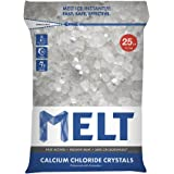 Snow Joe MELT25CC Calcium Chloride Crystals Ice Melter Resealable Bag, 25-Pound