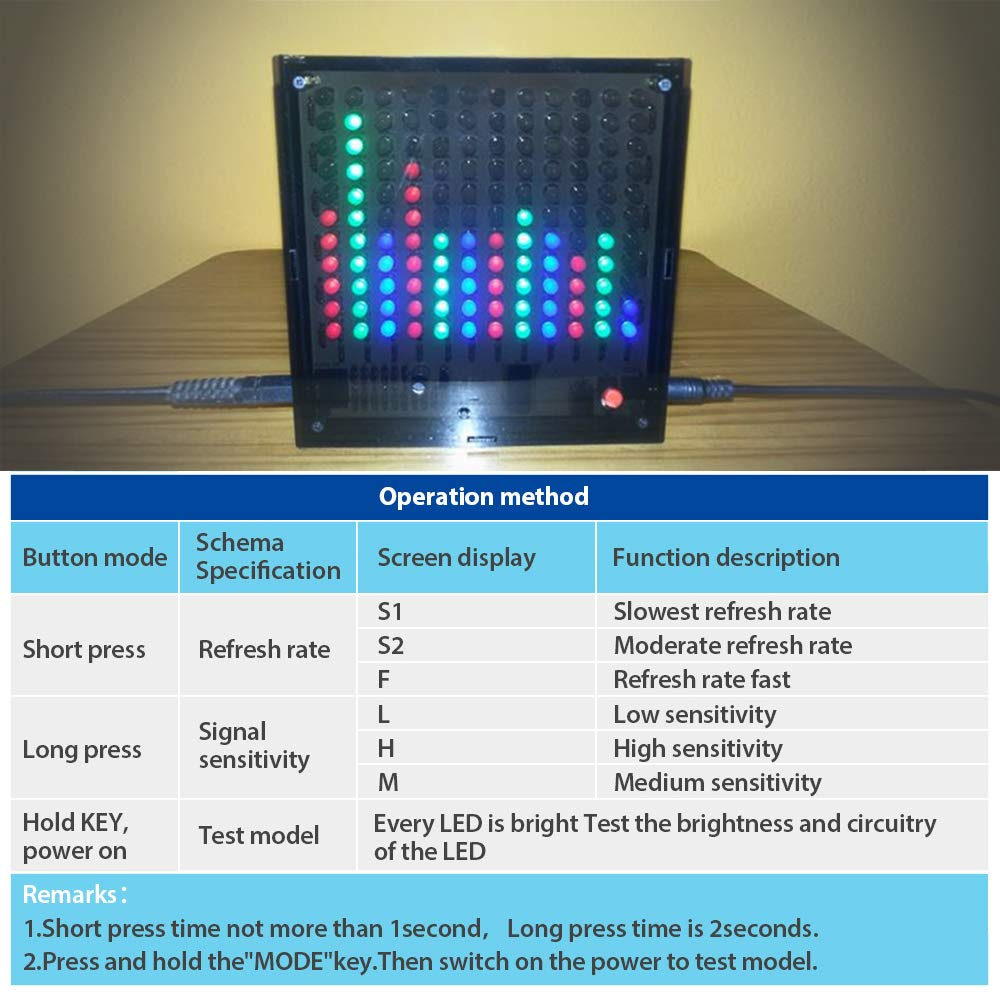 Is Icstation 8x8 Color Led Sound Audio Spectrum Analyzer Christmas Light Flasher Circuit Controlled By Level Indicator Kit Diy Electoronics Soldering Practice Set Toys Games