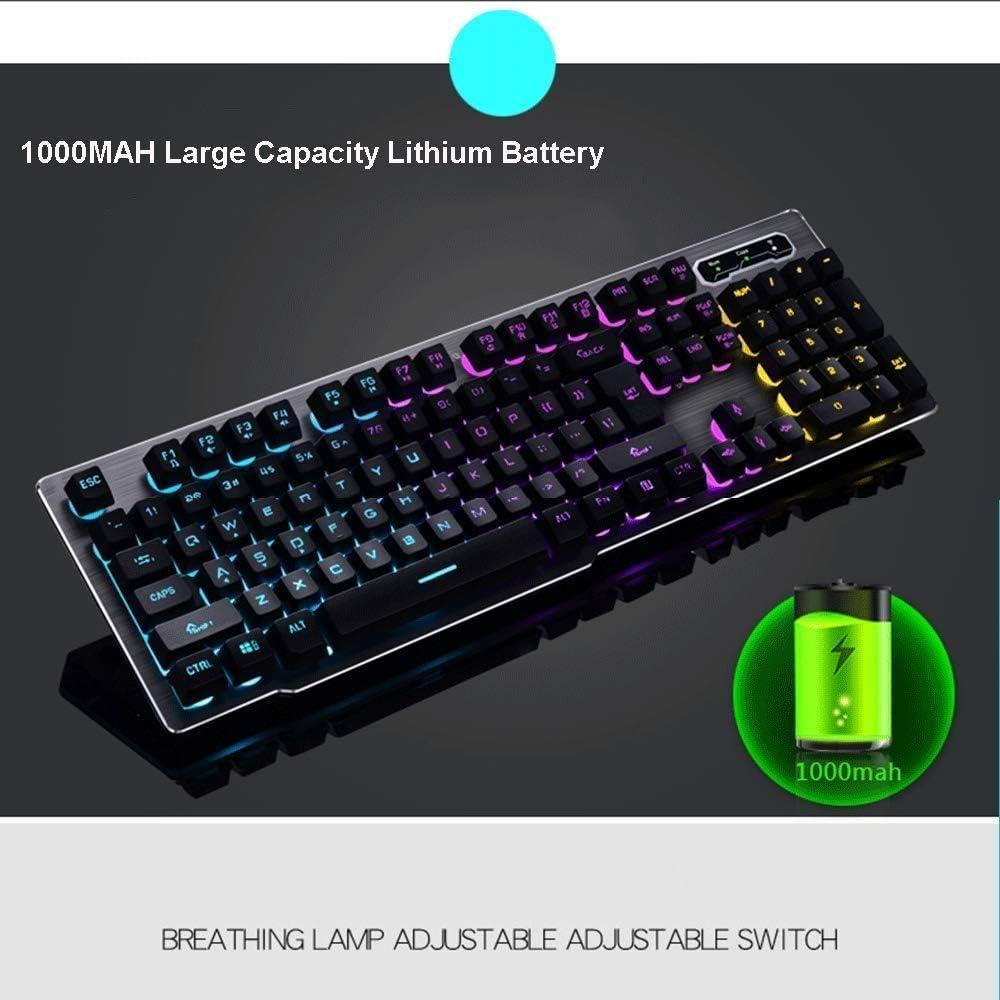 OFNMD Colores Vibrantes y Hermosos de LED, Teclado USB ...
