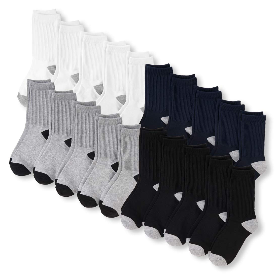 The Childrens Place Big Boys 20 Pack Crew Socks